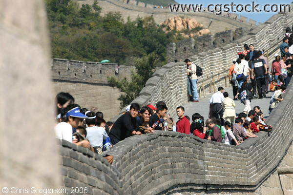 Crowd of People at Badaling Great Wall