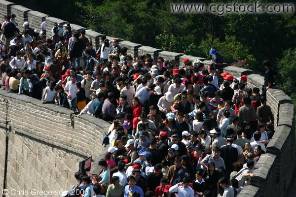 Crowded Curve on the Great Wall of China