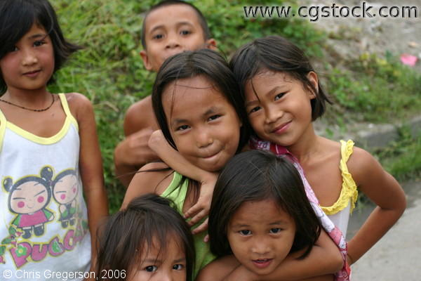 Friendship between Filipino Kids in Angeles City, Pampanga