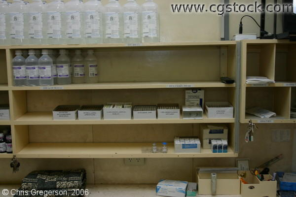 Vials, Microscope Slides and Saline Solution in ONA