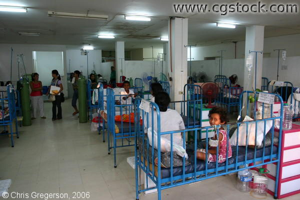 Row of Beds in Brightly-Lighted Children's Pediatric Ward, Ospital ng Angeles