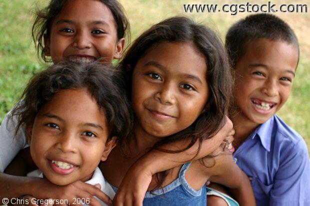 Group of Aeta Kids in Angeles City, Pampanga