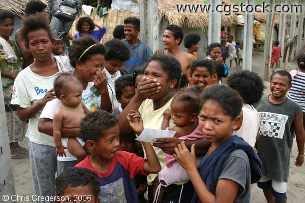 Shocked and Excited Aetas in Angeles, Pampanga