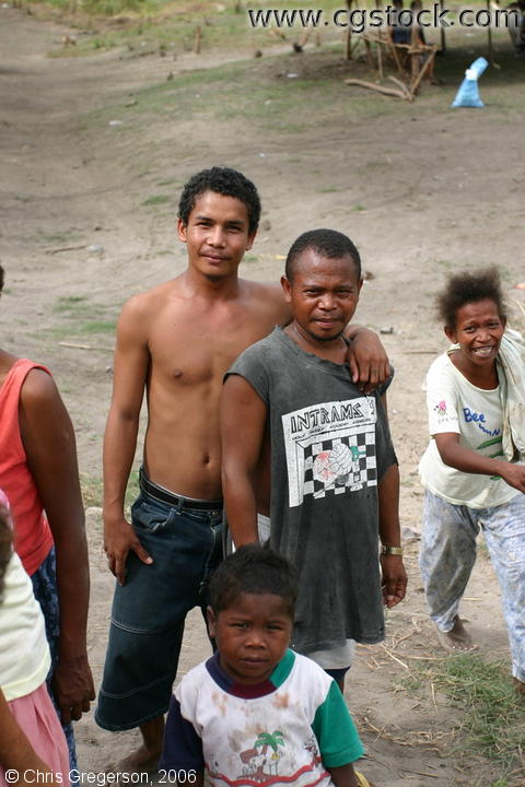 Assistant Brgy. Captain of Aeta Village in Pampanga Posing with His Relative