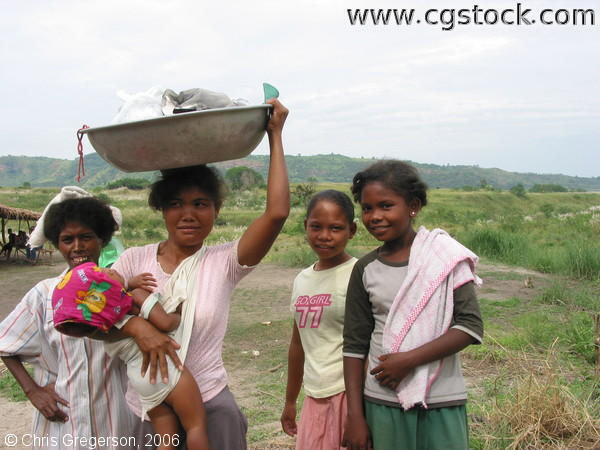 Aeta Women Posing in Settlement Village, Pampanga