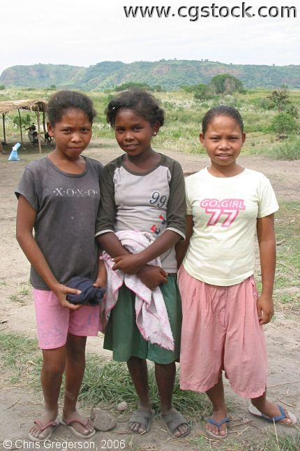 Shy Aeta Teenagers Posing Before Camera