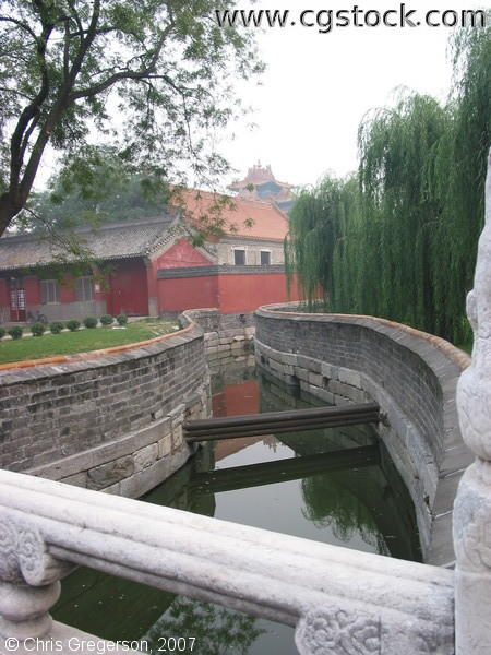 Bridge near Dong Hua Gate, Forbidden City, China