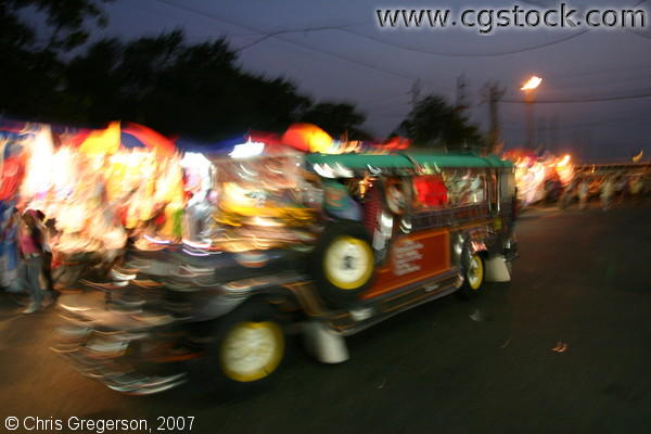 Jeepney in Motion, Baclaran, Philippines