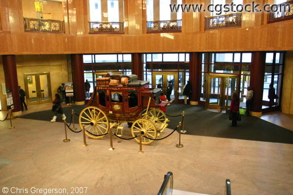 Wells Fargo Stagecoach in Bank Lobby