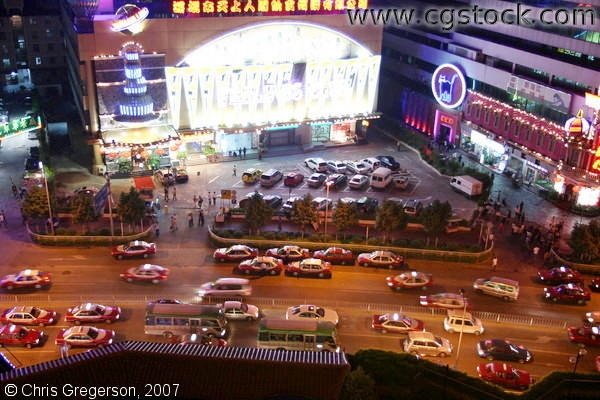 Bars, Taxis, and Neon Signs in Shenzhen, China