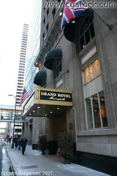 Entrance to the Grand Hotel in Minneapolis