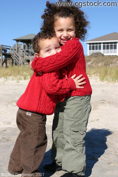 Children Hugging