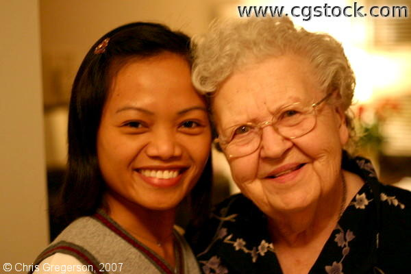 Young Filipina Woman and Grandmother