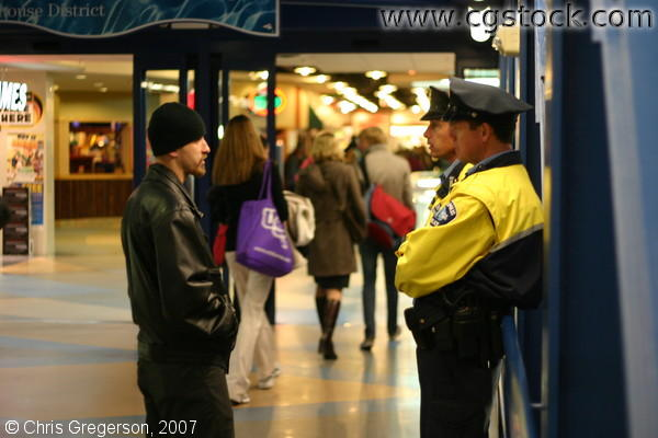 Minneapolis Police in Conversation on a Skyway