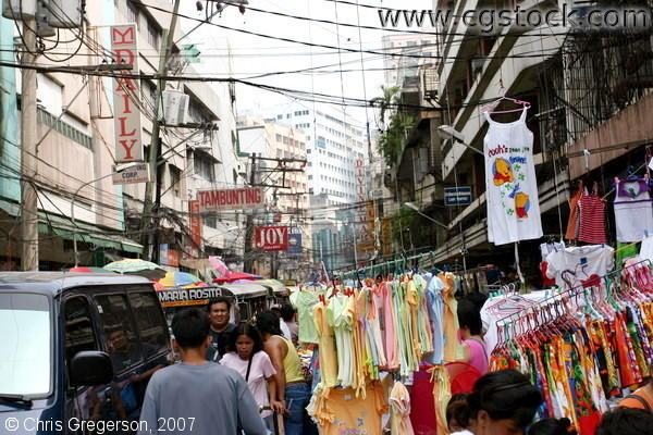 Clothes Bazaar in Divisoria, Philippines