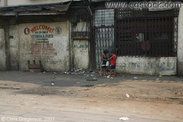 Two Young Boys on a Manila Street