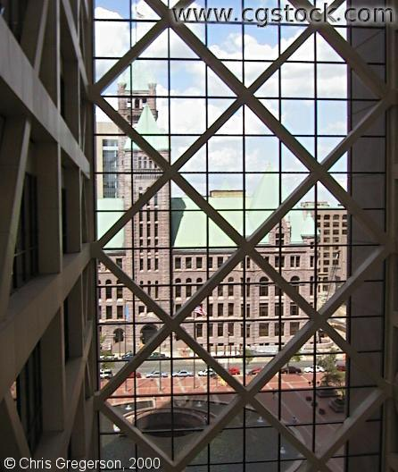 City Hall from Inside the Government Center Atrium
