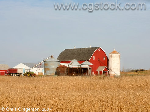 Farm and Silos in St. Croix County, Wisconsin