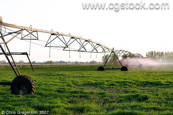 Circular Pivot Irrigation at Work in St. Croix County, Wisconsin