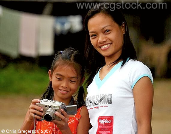 Two Ilocana Girls in the Philippines