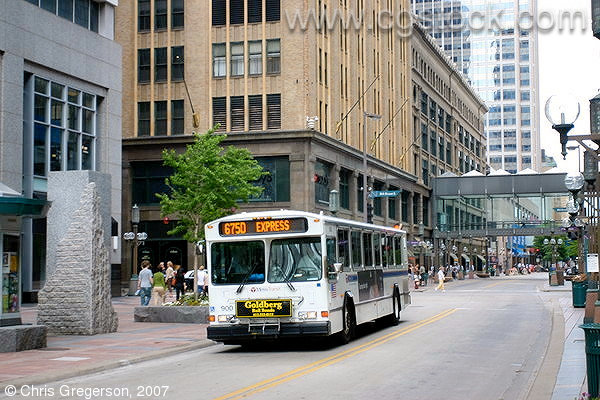 MTC Bus on Nicollet Mall at 8th Street