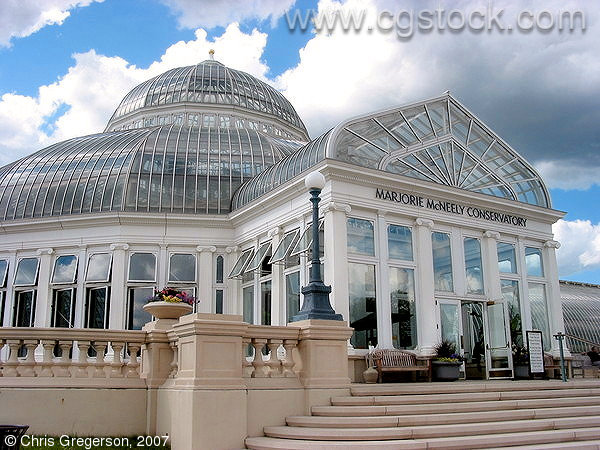 Entrance to the Como Park Conservatory, St. Paul, MN