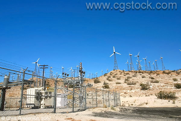 Electric Sub-Station and Wind Generators