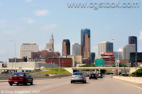 Downtown St. Paul Skyline from Interstate 94