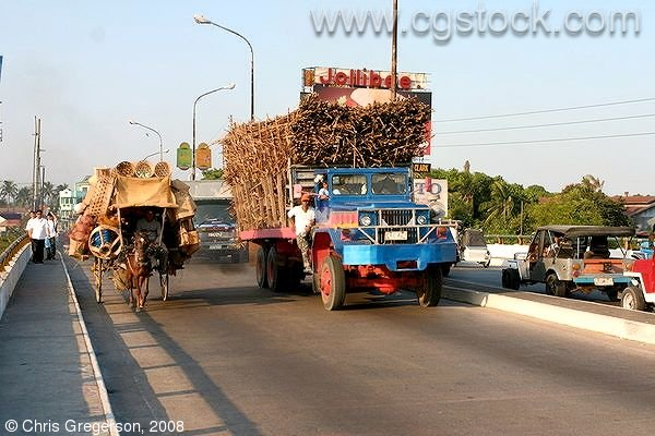 Sugar Cane Truck on the Abacan Bridge (MacArthur Highway), Angeles City