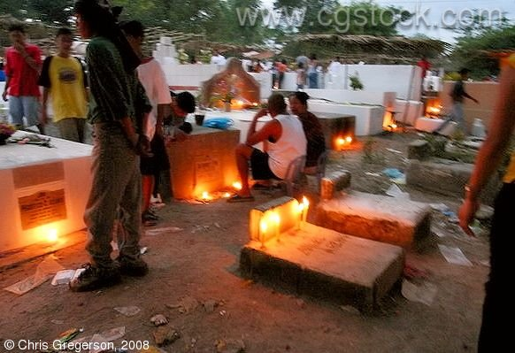 Cemetery in Angeles City on the Night of All Saint's Day