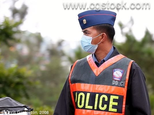 Baguio Police Officer Directing Traffic