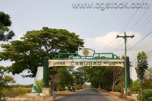 Welcome Sign for Cabugao, Ilocos Sur, Philippines
