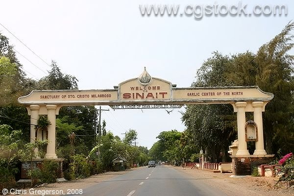Welcome Sign for Sinait, Ilocos Sur