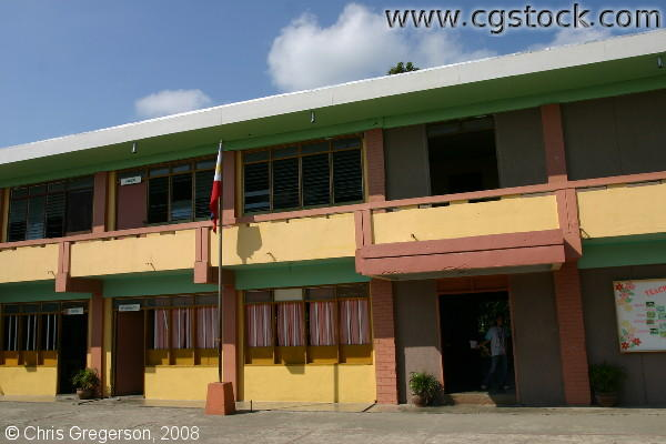 Courtyard at ICFI/Scared Heart High School, Badoc, Ilocos Norte