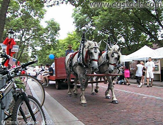 Horses on Main Street Southeast