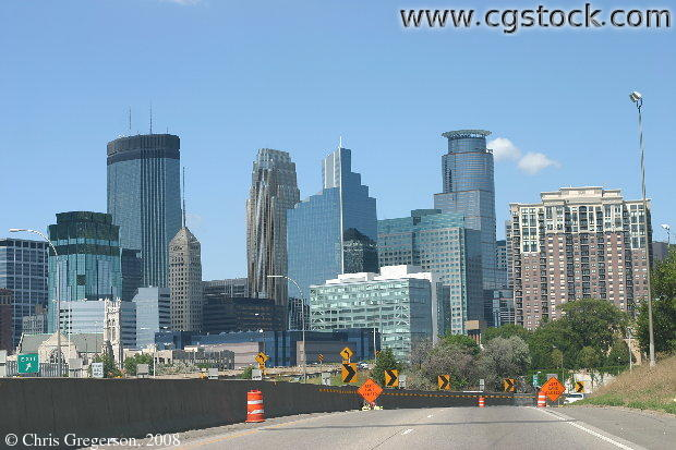 Downtown Minneapolis and 35W