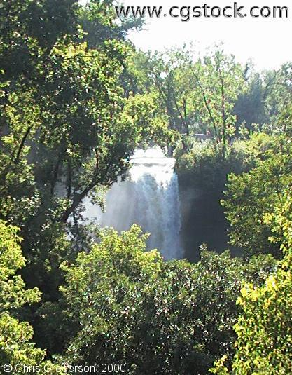 Close up of the Top of Minnehaha Falls