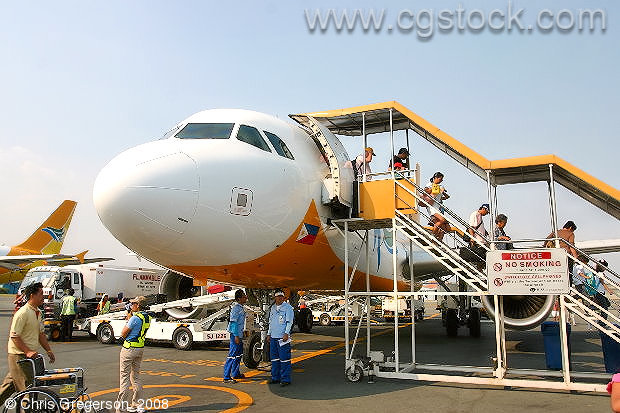 Cebu Pacific Flight Arriving in Manila, the Philippines