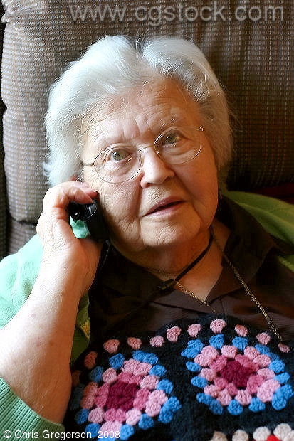 Grandmother Talking on a Cell Phone