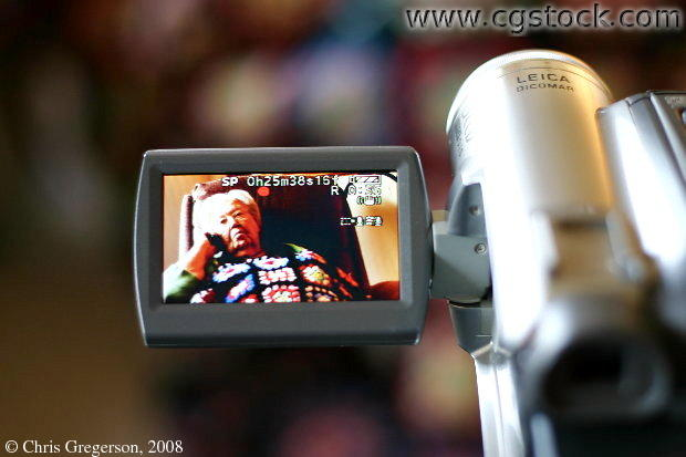 Camcorder Showing Viewfinder