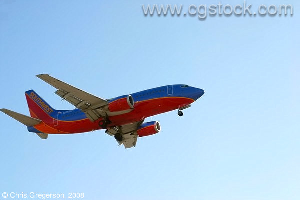 Southwest Airlines Jet Landing in LA