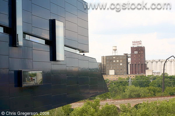Stock Photo Guthrie Theater And Mississippi Riverbank