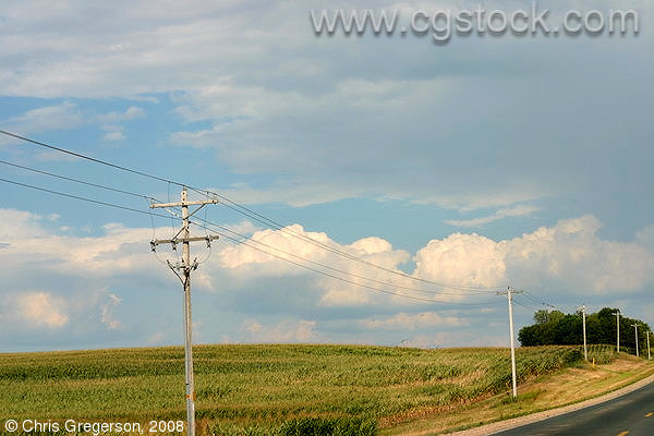 Power Lines Along Highway G, St. Croix County, WI