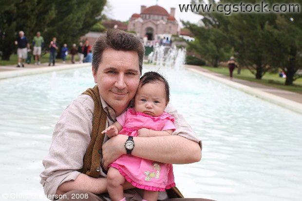 Chris and his Daughter at Lakewood Cemetery