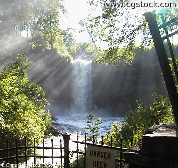 Minnehaha Falls with Mist and Sunbeams