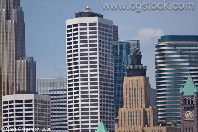 Cluster of Minneapolis Office Towers