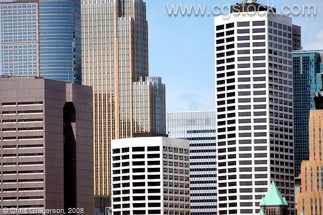 Close-up of Minneapolis Office Towers