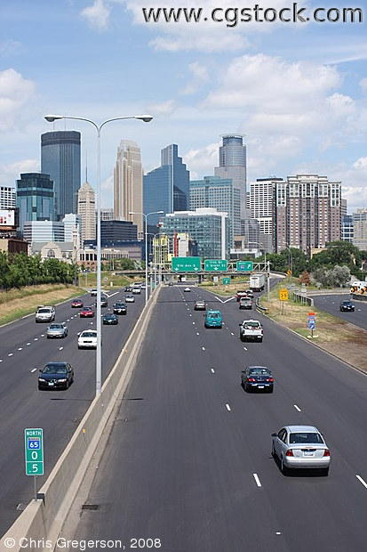 Minneapolis Skyline from 35W