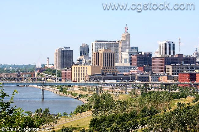 St. Paul Skyline and the Mississippi River