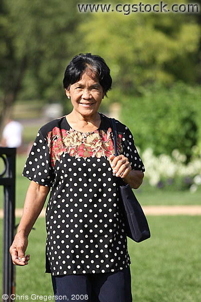 Middle-Aged Filipina at a Minneapolis Park